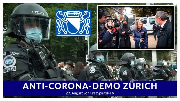 Anti-Corona-Demo am 29. August 2020 in Zürich